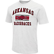 Colosseum Men's Arkansas Razorbacks White Dual-Blend T-Shirt