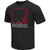 Colosseum Athletics Men's Arkansas Razorbacks Black State of the Union T-Shirt
