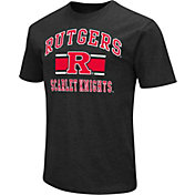 Colosseum Athletics Men's Rutgers Scarlet Knights Black Dual-Blend T-Shirt