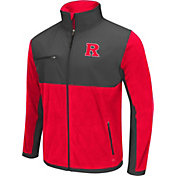 Colosseum Athletics Men's Rutgers Scarlet Knights Scarlet/Grey Mesa Polar Fleece Jacket