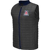 Colosseum Athletics Men's Arizona Wildcats Grey Rectangle Padded Vest