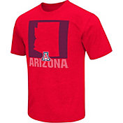 Colosseum Athletics Men's Arizona Wildcats Cardinal State of the Union T-Shirt