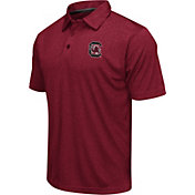 Colosseum Athletics Men's South Carolina Gamecocks Garnet Heathered Performance Polo