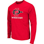 Colosseum Athletics Men's San Diego State Aztecs Red Goal Line Long Sleeve T-Shirt
