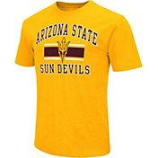 Colosseum Athletics Men's Arizona State Sun Devils Gold Dual-Blend T-Shirt