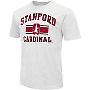 Colosseum Athletics Men's Stanford Cardinal White Dual-Blend T-Shirt