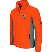 Colosseum Men's Syracuse Orange Quarter-Zip Orange Plow Jacket