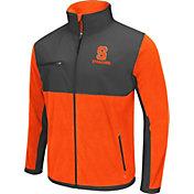 Colosseum Athletics Men's Syracuse Orange Mesa Orange/Grey Polar Fleece Jacket