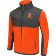 Colosseum Athletics Men's Syracuse Orange Mesa Orange/Grey Polar Fleece Jacket
