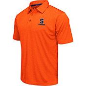 Colosseum Men's Syracuse Orange Orange Heathered Performance Polo