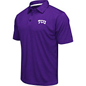 Colosseum Men's TCU Horned Frogs Purple Heathered Performance Polo