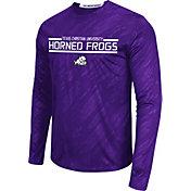 Colosseum Athletics Men's TCU Horned Frogs Purple Sleet Long Sleeve Performance Shirt