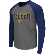 Colosseum Men's Toledo Rockets Grey Olympus Long Sleeve Shirt