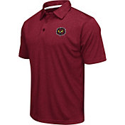 Colosseum Athletics Men's Temple Owls Cherry Heathered Performance Polo