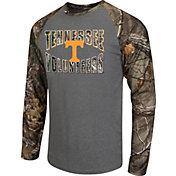 Colosseum Athletics Men's Tennessee Volunteers Grey/Camo Break Action Long Sleeve Shirt