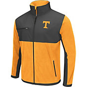 Colosseum Athletics Men's Tennessee Volunteers Tennessee Orange/Grey Mesa Polar Fleece Jacket