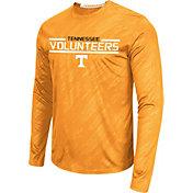 Colosseum Athletics Men's Tennessee Volunteers Tennessee Orange Sleet Long Sleeve Performance Shirt