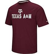 Colosseum Athletics Men's Texas AM Aggies Maroon Pique Performance T-Shirt