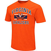 Colosseum Athletics Men's Virginia Cavaliers Orange Dual-Blend T-Shirt