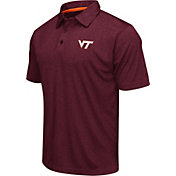 Colosseum Athletics Men's Virginia Tech Hokies Maroon Heathered Performance Polo