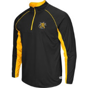 Colosseum Athletics Men's Wichita State Shockers Airstream Black Quarter-Zip Windshirt