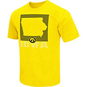 Colosseum Athletics Men's Iowa Hawkeyes Gold State of the Union T-Shirt
