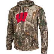 Colosseum Athletics Men's Wisconsin Badgers Camo Breech Pullover Hoodie