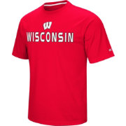 Colosseum Athletics Men's Wisconsin Badgers Red Pique Performance T-Shirt