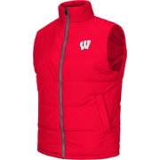 Colosseum Athletics Men's Wisconsin Badgers Red Puffer Vest