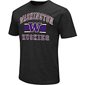 Colosseum Men's Washington Huskies Black Dual-Blend T-Shirt