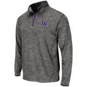 Colosseum Athletics Men's Washington Huskies Grey Action Pass Quarter-Zip