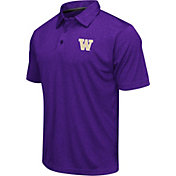Colosseum Athletics Men's Washington Huskies Purple Heathered Performance Polo