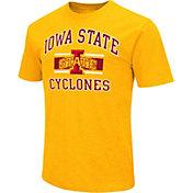 Colosseum Athletics Men's Iowa State Cyclones Gold Dual-Blend T-Shirt