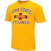 Colosseum Men's Iowa State Cyclones Gold Dual-Blend T-Shirt