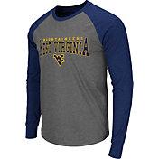 Colosseum Men's West Virginia Mountaineers Grey Olympus Long Sleeve Shirt