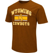 Colosseum Athletics Men's Wyoming Cowboys Brown Dual Blend T-Shirt