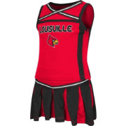 Colosseum Athletics Toddler Girls' Louisville Cardinals Cardinal Red Handspring Cheerleader Set