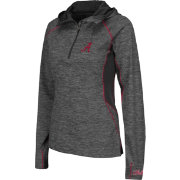 Colosseum Women's Alabama Crimson Tide Grey Downhill Quarter-Zip Hooded Wind Shirt