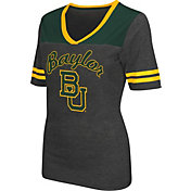 Colosseum Athletics Women's Baylor Bears Grey Twist V-Neck T-Shirt