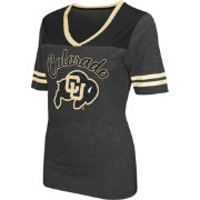 Colosseum Athletics Women's Colorado Buffaloes Grey Twist V-Neck T-Shirt