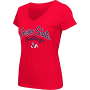 Colosseum Athletics Women's Fresno State Bulldogs Cardinal Script Graphic V-Neck T-Shirt