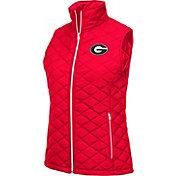 Colosseum Athletics Women's Georgia Bulldogs Red Elite Quilted Vest
