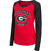 Colosseum Athletics Women's Georgia Bulldogs Red Healy Long Sleeve Shirt