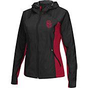 Colosseum Athletics Women's Oklahoma Sooners Black/Crimson Step Out Windbreaker