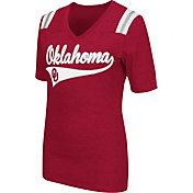 Colosseum Athletics Women's Oklahoma Sooners Crimson Artistic V-Neck T-Shirt