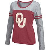 Colosseum Athletics Women's Oklahoma Sooners Crimson Leap Scoop Neck Long Sleeve Shirt
