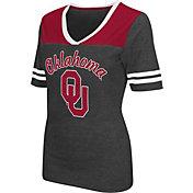Colosseum Athletics Women's Oklahoma Sooners Grey Twist V-Neck T-Shirt