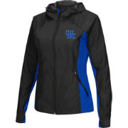 Colosseum Athletics Women's Kentucky Wildcats Black/Blue Step Out Windbreaker
