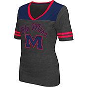 Colosseum Athletics Women's Ole Miss Rebels Grey Twist V-Neck T-Shirt