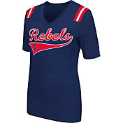 Colosseum Athletics Women's Ole Miss Rebels Blue Artistic V-Neck T-Shirt